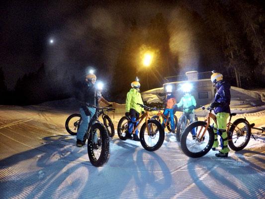 Alpine Fatbike Hochwurzen Downhill Nightride