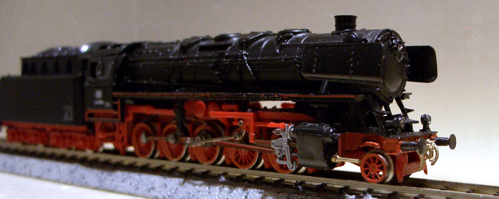 Die Lok wurde wieder mit allen Teilen samt Steuerung  fahrbereit hergerichtet.