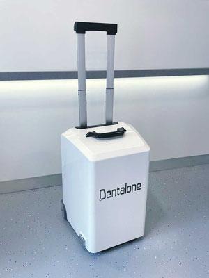 NSK Dentalone mobile Behandlungseinheit im Zahnzentrum Fiedler Kenzingen, Koffer, Trolley, Hausbesuch, Zahnarzt Behandlung außer Haus