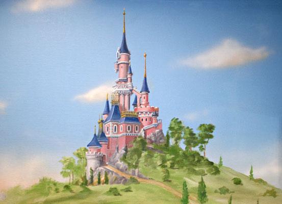 Ein Märchenschloss ist ein schönes Wandbild für ein Mädchenzimmer.