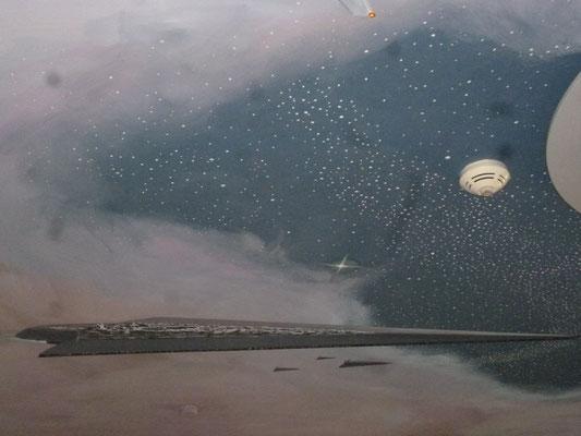 Detail-Ausschnitt mit Raumschiff.