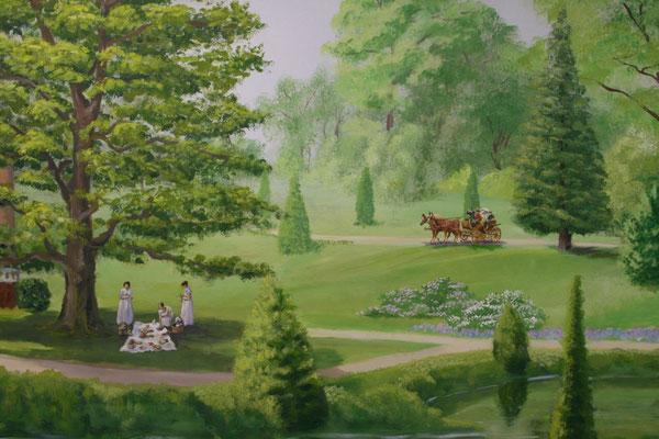 Sommerliches Picknick im Schatten einer alten Eiche und Kutschenfahrt durch den sommerlichen Barockgarten.