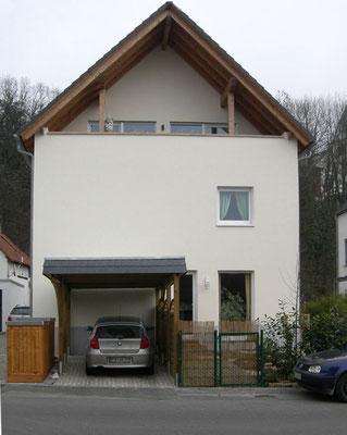 Die Aufgabe: Gestaltung der »leeren« Front eines Einfamilienhauses.