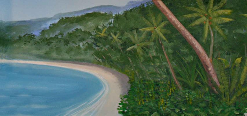 Einsamer Strand in tropischen Gefilden
