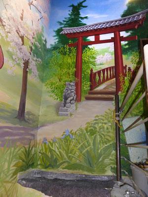 Der Torii symbolisiert das Eingangstor zu einem heiligen Bereich.