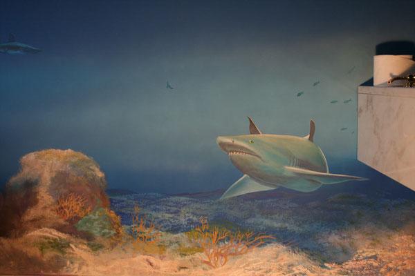 Auch dieses »Hai-Zimmer« ist als Komplettbemalung ausgeführt.