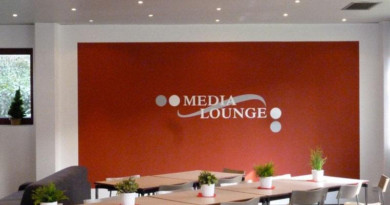 Media-Lounge in einem Unternehmen in Düsseldorf.