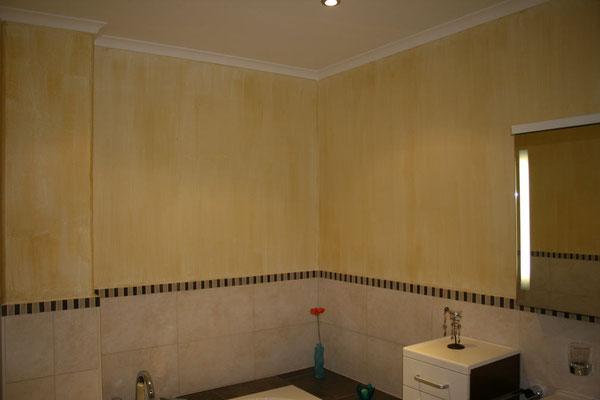 Das Badezimmer hatte bereits zuvor schon ein italienisches Flair.