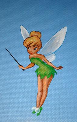 Detail aus einer Wandmalerei: Fee Tinkerbell.