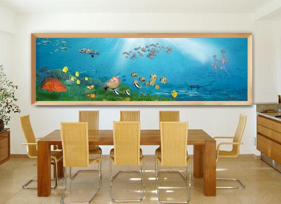 """Hyperrealistische Ölmalerei mit dem Thema """"Mediterrane Welt"""". Durch die vielschichtige Lasurtechnik wird eine faszinierende Tiefenwirkung erreicht."""