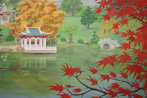 Detail der Japanischen Landschaft.