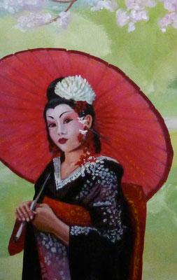 Detailausschnitt der Geisha.