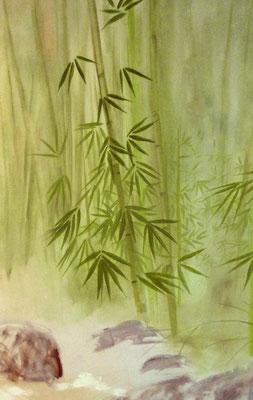 Der südostasiatische Babuswald ist z.B. ein geeignetes Motiv, um eine ruhige Atmosphäre zu schaffen.
