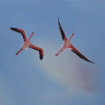 Eine Deckenmalerei wie diese Vögel eignet sich auch gut für's Kinderzimmer.
