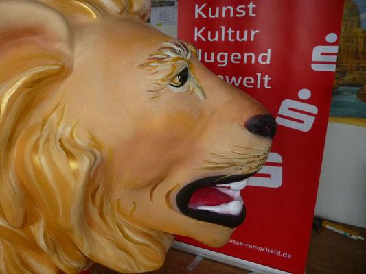 Detail des Löwen.