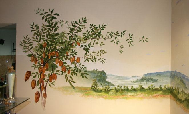 Stimmungsvolles Wandgemälde für eine Confiserie.