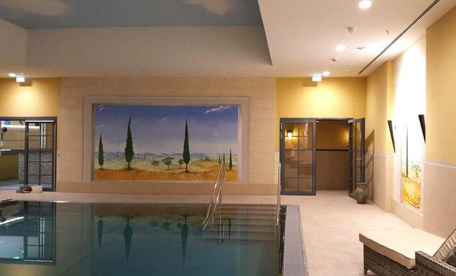 Wandmalerei im Schwimmbad des Hotels »Maritim« in Bonn.