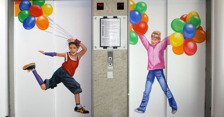 ...der Aufzüge.