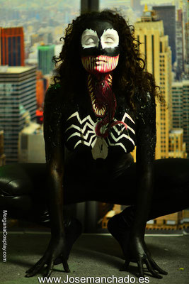 bodypaint venom, venom carnage bodypaint, bodypaint spiderman