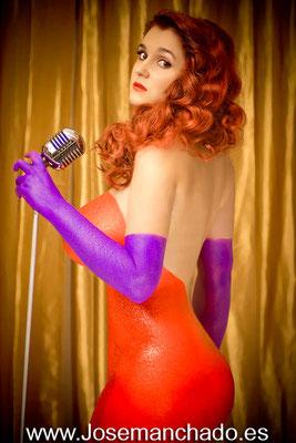 jessica rabbit bodypaint, jessica rabbit cosplay, bodypaint madrid, fotografo bodypaint, empresa bodypaint, fotografo maquillaje corporal