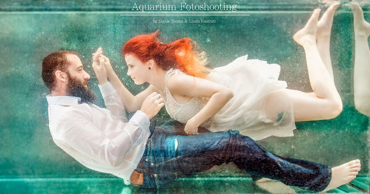 Aquarium Fotoshoot by Nadja Thoma Make-Up Artist