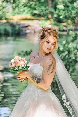 Braut Carmen 2020 Make-Up und Haarstyling Nadja Thoma, Fotos Marc Robert