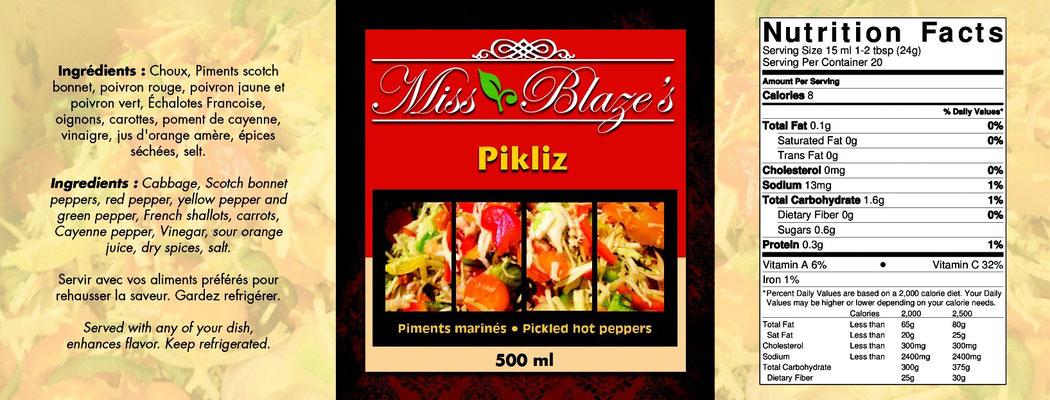 Réalisation graphique pour Miss Blaze's