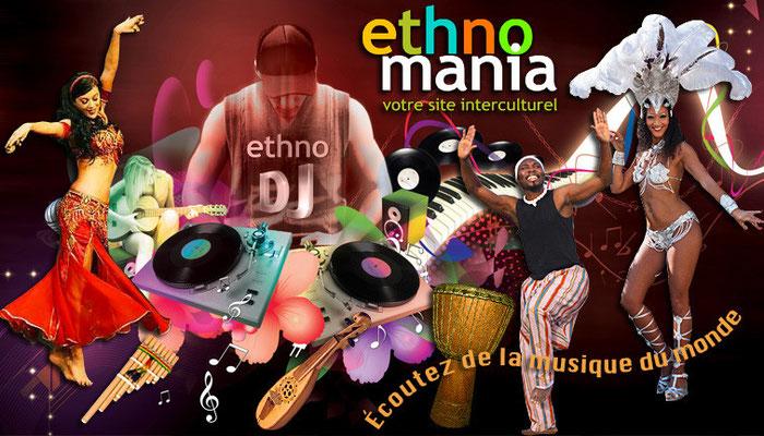 Conception publicitaire pour Ethnomania