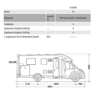 Mobilvetta K-Silver Masszeichnung