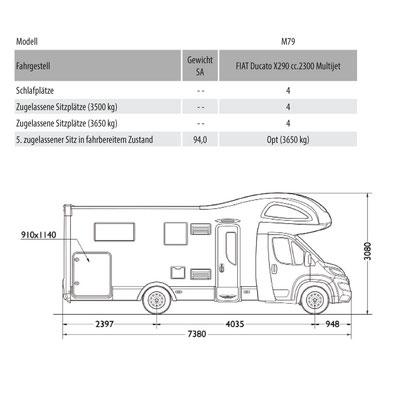 Mobilvetta Kea M 79 Masszeichnung
