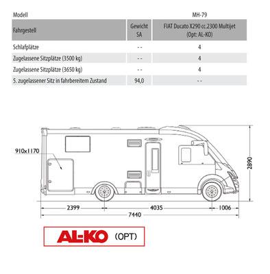 Mobilvetta K-Yacht Tekno Design 79 Masszeichnung