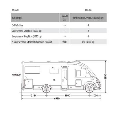 Mobilvetta K-Yacht Tekno Line 80 Masszeichnung
