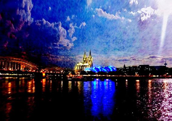 Vom anderen Ufer (Dom zu Köln), hochw. Fotoabzug 68x48 cm (limitierte Auflage) 150,- €