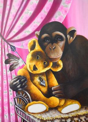 ENDLOS WEIT IST DIE PRÄRIE Acrlylic on canvas 50 x 60 cm; 2013 (sold)