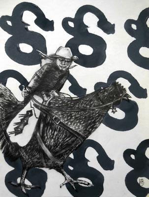 STAR EXPRESS II Graphite, Acrylic on Bütten Paper, 18 x 14 cm, 2015 (sold)