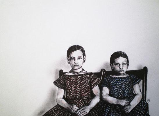 DIE WAHRHEIT IST EIN LAND OHNE WEGE Graphite, Aquarell Crayons de Couleur on Bütten / vat paper, 21 x 29,5 cm; 2012