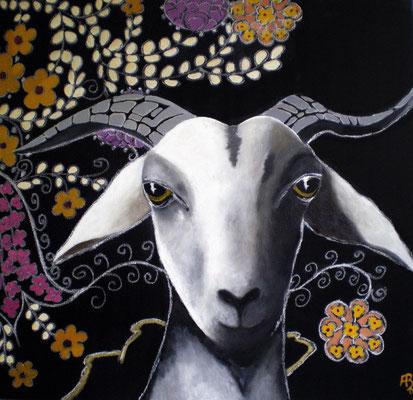HEILIGE ZIEGE Acrylic on canvas, 60 x 60 cm; 2007 (sold)