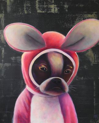 ERDHASE Nr. 3 (French Bulldog) Acrylic on canvas, 60 x 50 cm; 2016