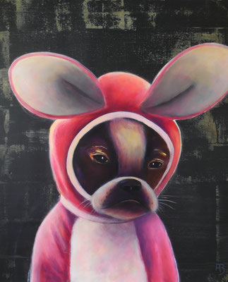 ERDHASE Nr. 3 (French Bulldog) Acrylic on canvas, 60 x 50 cm; 2016