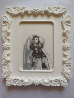 MUTTER GEIST No. III Graphite on Bütten & Transparent Paper, 18 x 13 cm (Frame 28 x 24 cm) 2014