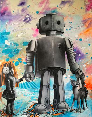 THE GREAT PROTECTOR Acrylic on canvas, 150 x 120 cm; 2017