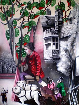 GEISTERBLUT Acrylic on canvas 140 x 100 cm; 2011