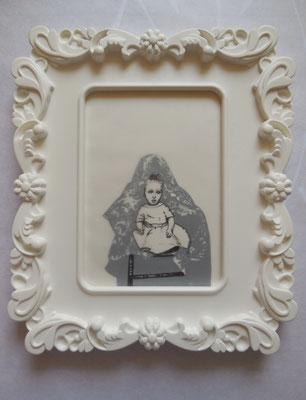 MUTTER GEIST No. II Graphite on Bütten & Transparent Paper, 18 x 13 cm (Frame 28 x 24 cm) 2014