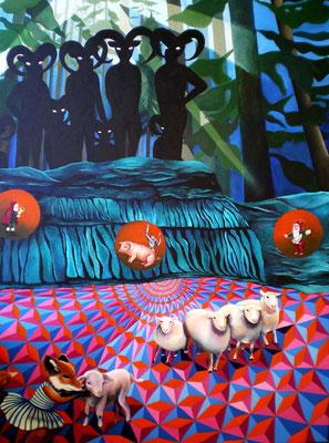 DIE MONDLIEDER Acrylic on canvas 140 x 100 cm; 2009 (sold)