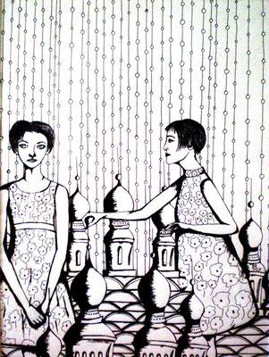 NEUE ORDNUNG Ink on paper, 40 x 30 cm, 2007