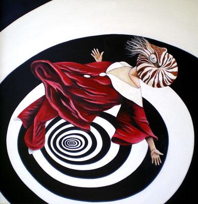 JENSEITS VON RAUM UND ZEIT Acrylic on canvas, 100 x 100 cm; 2010