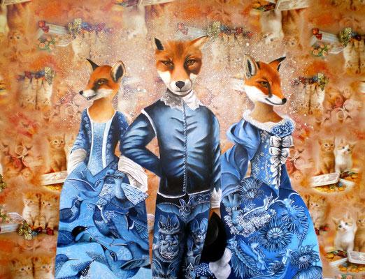 DIE VERFÜHRER Acrylic on wax canvas, 118 x 155 cm; 2011