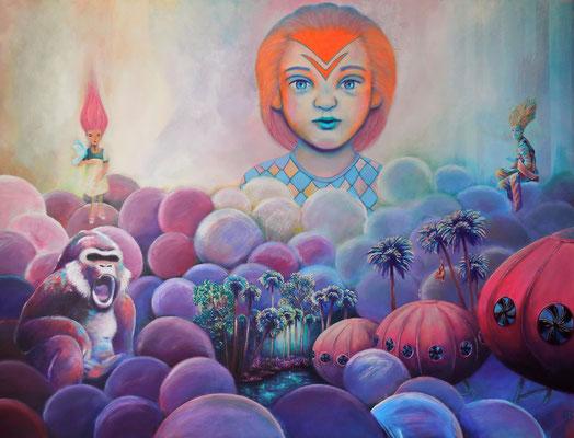 TRANSFORM - HONEY - TRANSFORM Acrylic on canvas, 120 x 160 cm; 2016