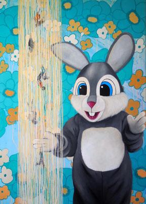 JUMP! Acrylic on canvas, 140 x 100 cm; 2016