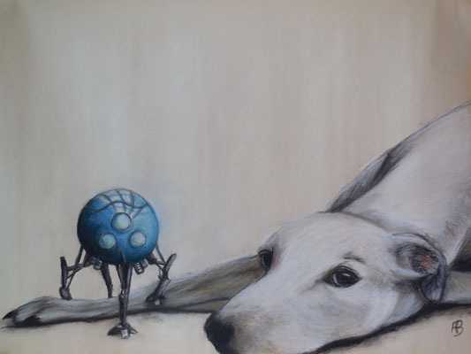 GOOD BOY Graphite, charcoal, pastel chalk on paper, 50 x 70 cm; 2014